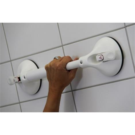 "Clarke Handi-Grip Single Hand Grip Portable Grab Bar With Suction Indicator,5""W x 2.75""H x 12.75""L,Each,R1400220S"