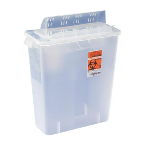 Covidien Kendall In-Room Sharps Container with Mailbox Style Lid,2qt,Clear,20/Case,85021