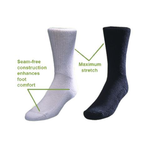 Medicool Black Diasox Socks,Medium,Pair,DISBM