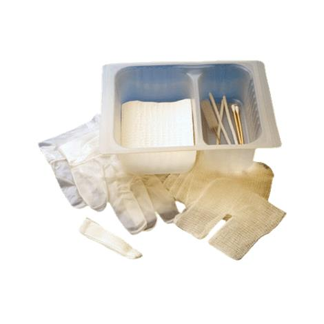 CareFusion AirLife Tracheostomy Kit,2 Cotton Tip Applicators,2 Pipe Cleaners,1 Pair Vinyl Gloves,Towel,20/ Case,3T4691