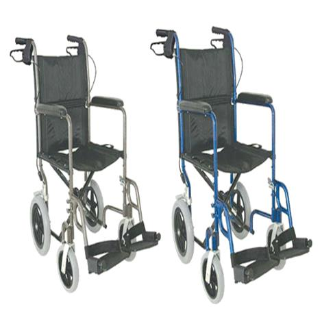 Mabis DMI 19 Inches Lightweight Aluminum Transport Chair,Royal Blue,Each,501-1051-2178