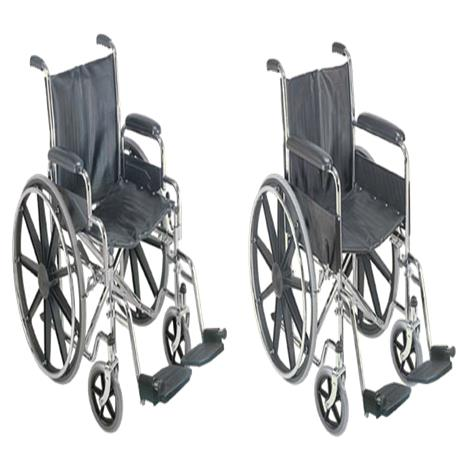 "Mabis DMI 18 Inch Wheelchair,Seat 18""W x 16""D,With Fixed Arm Rests,Each,503-0658-0200"