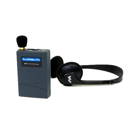 "William Sound Pocketalker PRO Personal Sound Amplifier With HED 021 Folding Headphone,3-5/8""L x 2-3/8""W x 7/8""H,Each,PKT PRO1-3"
