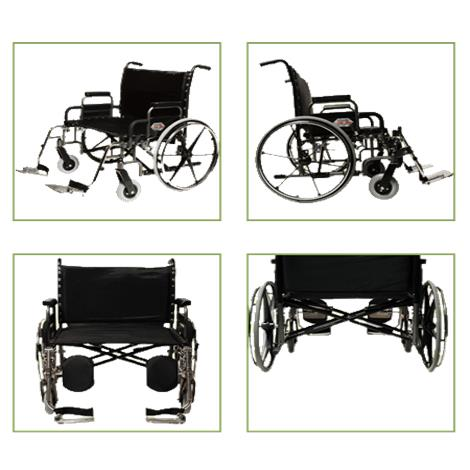 """Graham-Field Paramount XD Bariatric Manual Wheelchair,26"""" x 19.5"""" with Elevating Legrest,Each,5PX10820"""