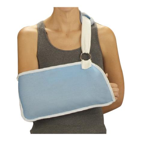 """DeRoyal Light Blue Arm Sling with Hook and Loop Closure,,Pouch Size: 5"""" x 9"""",Strap Length: 1"""" x 21"""",Each,10101"""
