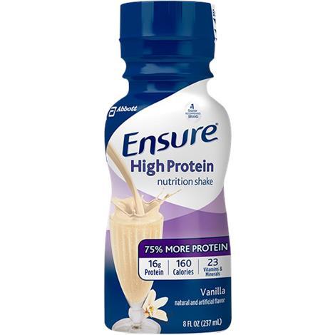 Abbott Ensure High Ready To Drink Shake,Milk Chocolate,8 fl oz (237ml),Bottle,6/Pack,64115