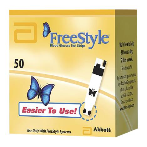 Abbott FreeStyle Test Strips,Coulometry Technology,100/Pack,121010
