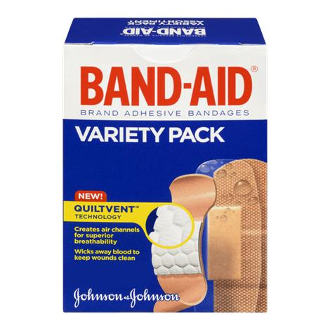 Johnson & Johnson Band-Aid Adhesive Bandages Variety Pack,Variety Pack,280/Pack,18pk/Case,4711