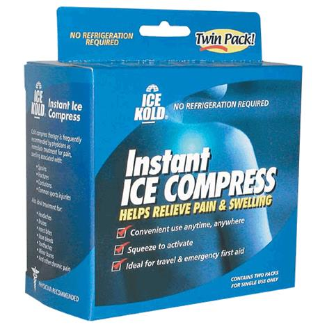 """Mabis DMI Ice Kold Instant Ice Compress,6"""" x 8-1/4"""",2/Pack,24Pk/Case,612-0022-9724"""