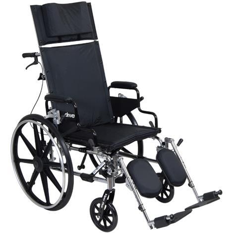 "Drive Viper Plus Reclining Wheelchair With Flip Back Detachable Full Arm,16"" Seat Width,Each,PLA416RBDFA"