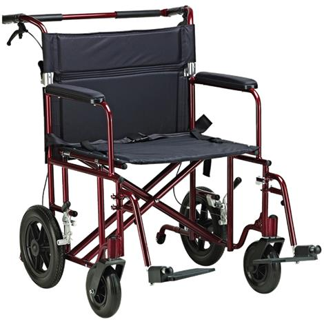 "Drive Bariatric Heavy Duty Aluminum Transport Chair,Seat 22""W x 18""D,Each,ATC22-R"