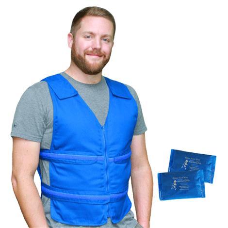 Polar Kool Max Adjustable Body Cooling Zipper Vest with Cooling Packs,0,Each,KMVZ