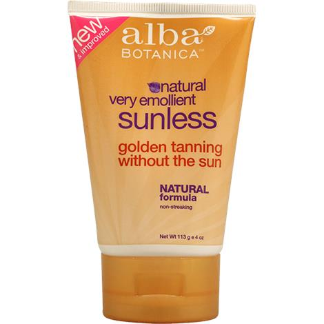 Alba Botanica Very Emollient Sunless Golden Tanning Lotion,4 fl oz,Tube,Each,012739-9