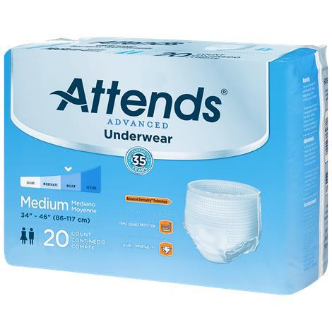 Attends Advanced Underwear,Large,18/Pack,4Pk/Case,APP0730