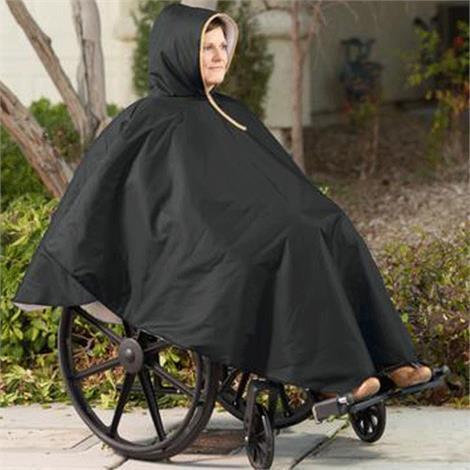 CareActive Wheelchair Winter Poncho,Burgundy Winter Poncho,5/Pack,9661-0-BUR