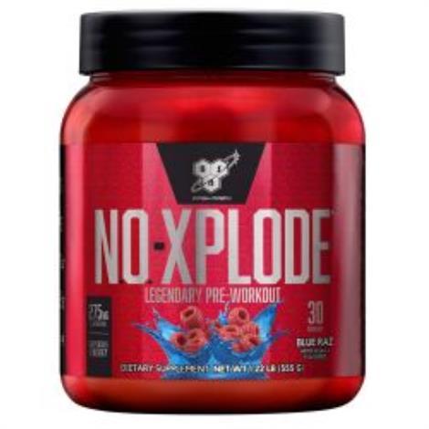 BSN N.O.-Xplode Pre Workout Dietary ,Blue Raz,1.22 lb,Each,180322