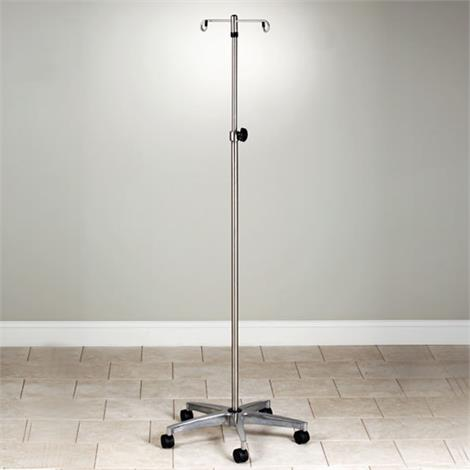 Graham-Field Five-Leg Deluxe Chrome Plated Steel I.V. Stand,4-hook Top,Each,GF7051-1