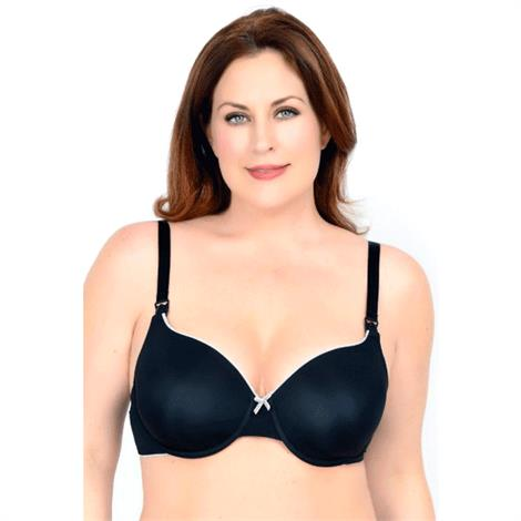 QT Intimates Molded Micro T-Shirt Nursing Bra