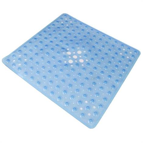 "Essential Medical Deluxe Shower Mat,Blue,21""L x 21""W x 1""H,Each,B3417B"