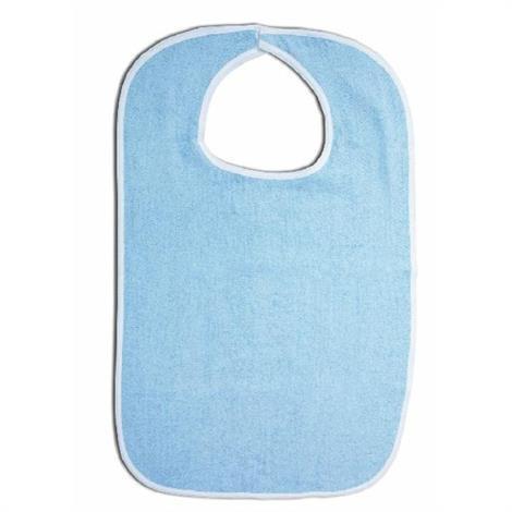 "Essential Medical Standard Blue Terry Cloth Bib,30""L x 18""W,12/Pack,C3042B"