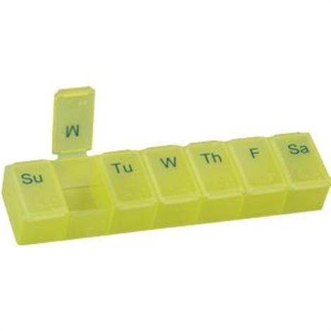 Health Enterprises Acu-Life Large 7 Day Pill Box Display Tub,Yellow Color Tint,Each,300B