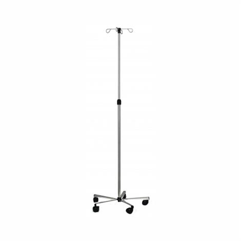 Graham Field Lumex Stainless Steel Deluxe IV Stand,IV Pole Stainless Steel 4 Hook,Each,7016A