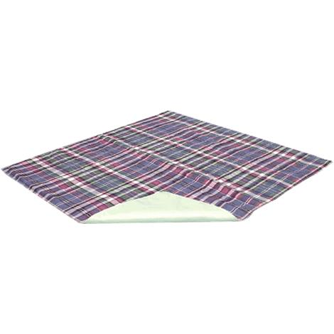 Essential Medical Quik-Sorb Plaid Quilted Polyester Underpad,Bed Pad,34W x 36L,Each,C2012
