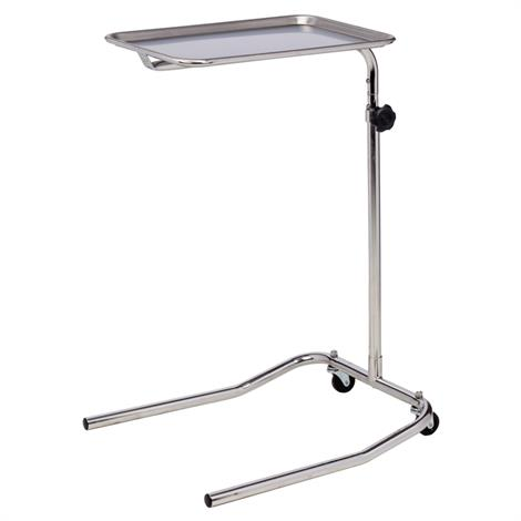 Clinton Single Post Stainless Steel Mayo Stand,Double Post Mayo Stand,Each,MS-23