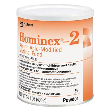 Abbott Hominex 2 Amino Acid Modified Medical Food,14.1oz (400gm),Unflavored,Powder Institutional Can,6/Case,51118
