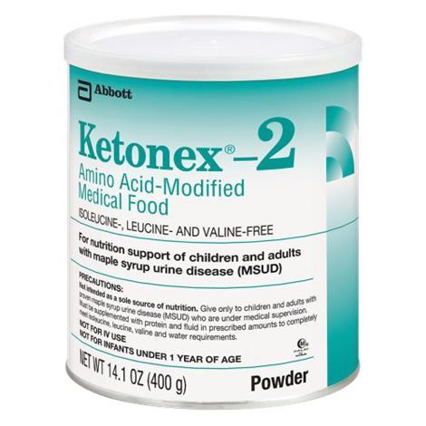 Abbott Ketonex 2 Amino Acid Modified Medical Food,14.1oz (400gm),Unflavored, Powder Institutional Can,6/Case,51114