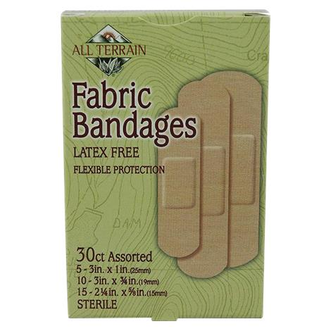 All Terrain Fabric Bandages,Assorted Size,30/Pack,062010-4