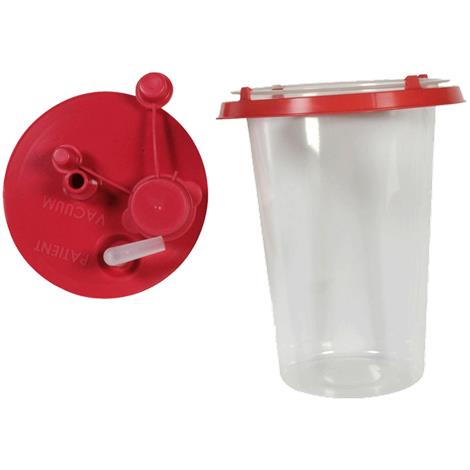 Cardinal Health Medi-Vac Semi-Rigid Suction Canister Liner With Lid,1000cc Liner,Each,65651-510