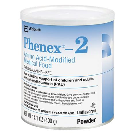 Abbott Phenex 2 Amino Acid Modified Powdered Medical Food,Unflavored Institutional,14.1oz (400gm),Can,6/Case,51122