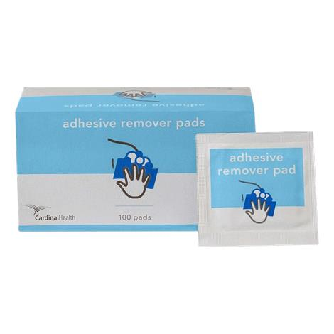 Cardinal Health Adhesive Remover Pad,6cm x 3cm,100/Pack,MW-ADHRM