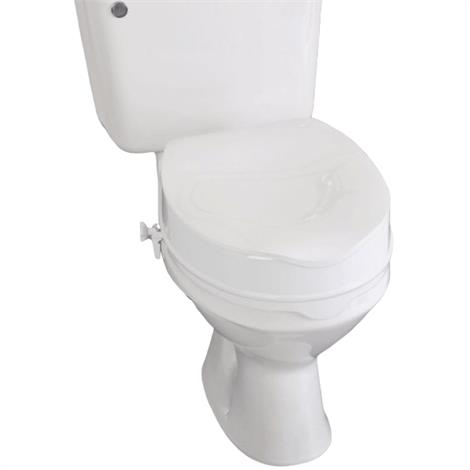 """Homecraft Savanah Raised Toilet Seat with Lid,2"""" (5cm) High at Front,Each,AA2112L"""