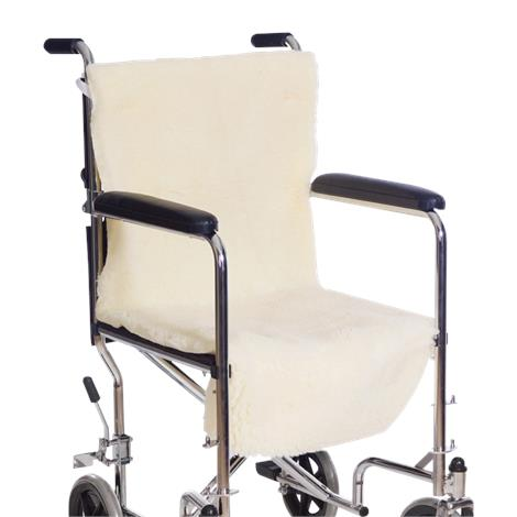 """Essential Medical Sheepette Wheelchair Seat & Back Pad,40""""L x 25""""W x 3""""H,Each,D3005"""