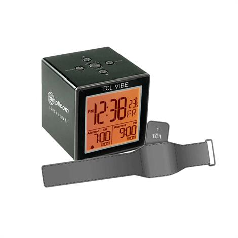 Amplicom TCL Vibe Travel Alarm Clock With Vibration Wristband,TCL Vibe Travel Alarm Clock,Each,95866