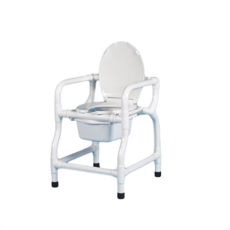 Duralife Bedside Commode With Lid,With Lid and One Arm,Each,124