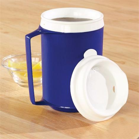 Insulated Mug With Lid,12oz,With Tumbler Lid,Blue,Each,1137