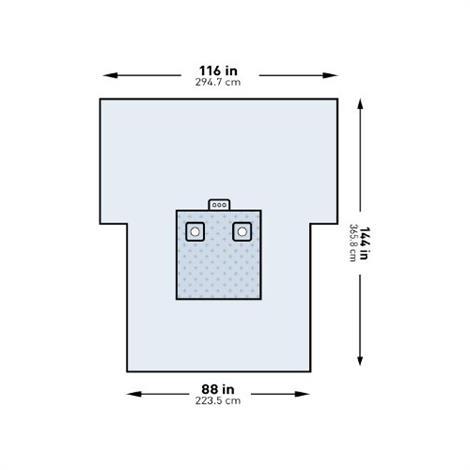 """McKesson Bilateral Limb Drape,116""""W x 88""""W x 114""""L,12/Case,183-I80-09138G-S"""