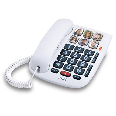 """Smpl Handsfee Dial Photo Phone,7-7/8"""" X 8"""" X 3-1/2"""",Each,56010"""