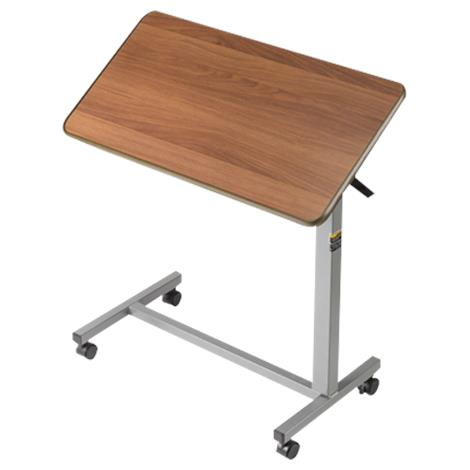 Medline Tilt Top H-Base Overbed Table,Walnut,Each,MDS104950