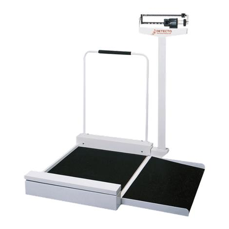 Detecto 495 Mechanical Stationary Wheelchair Scale,Weight Capacity: 180kg x 100g,Each,4951