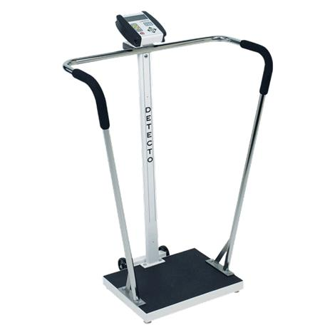 Detecto Bariatric Waist-High Stand-On Scale,Capacity: 600 lb x 0.2 lb / 270 kg x 0.1 kg,Each,6855