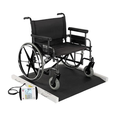 Detecto Portable Wheelchair Scale,Capacity: 1,000 lb x 0.2 lb / 450 kg x 0.1 kg,Each,BRW1000