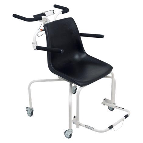 Detecto Digital Rolling Chair Scale,Capacity: 440lb x 0.2lb / 200kg x 0.1kg,Each,6880