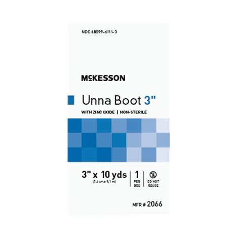 "Mckesson Cotton Unna Boot Compression Bandage With Oxide,3"" X 10 Yd (7.6 Cm X 9.1 M),12/Pack,2066"