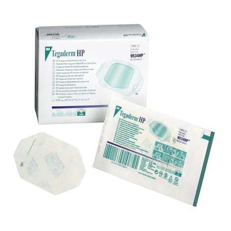 """3M Tegaderm HP Transparent Film Dressing - Picture Frame Style,2-3/8"""" x 2-3/4"""",Sacral Shape With Label,100/Pack,9534HP"""