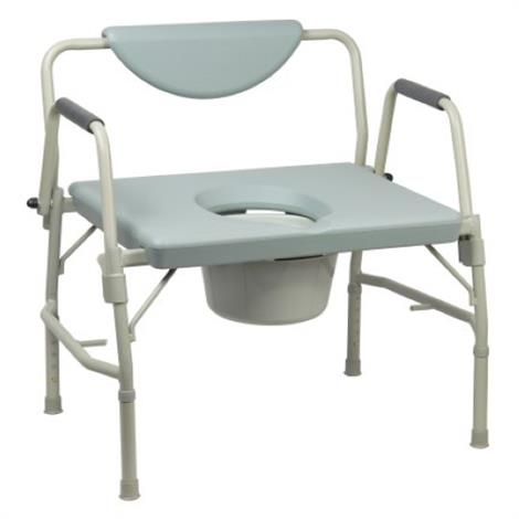 Mckesson Drop Arm Steel Frame Commode Chair,Drop-Arm Chair,Gray,With 12 QT Bucket,Each,146-11135-1
