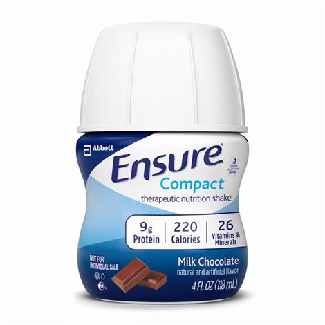 Abbott Ensure Compact Therapeutic Milk Chocolate Shake,4fl oz (118mL) Bottle,Each,64362